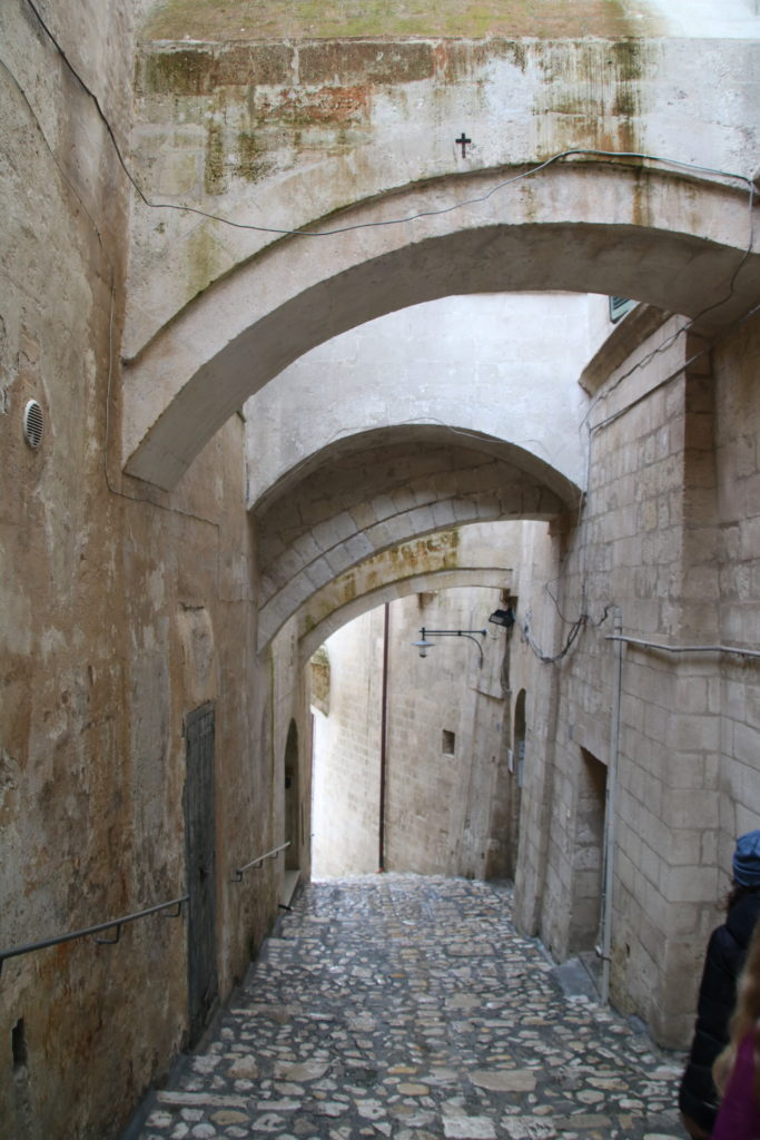 Rue pavée de Matera