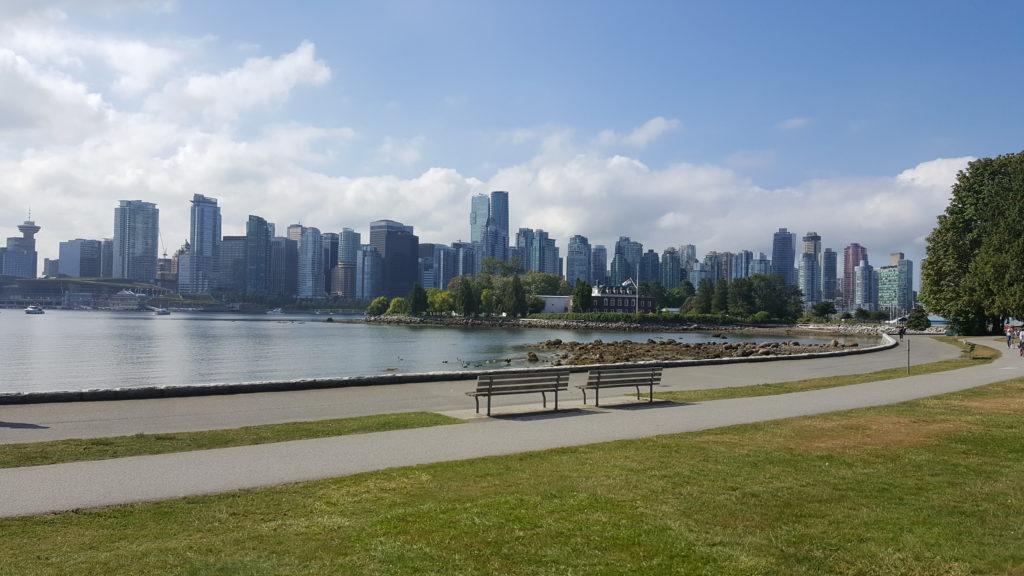 skyline de vancouver vue du parc Stanley