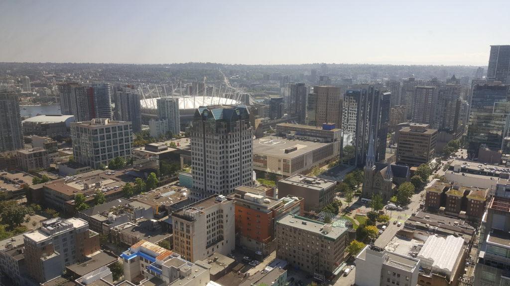 vue du centre ville de vancouver